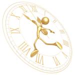 on the clock