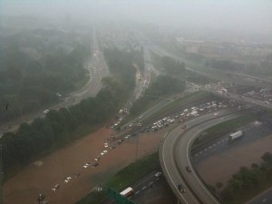 Flooded Freeway in Downtown Atlanta
