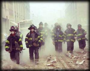 Firefighters at WTC on 9/11